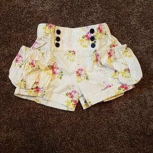 New girls ibambini boutique handmade floral shorts